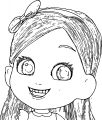 Big Girl Face Sketch Coloring Page