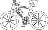 Bike Biycle Coloring Page 05