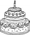 Birthday Cake Coloring Page 05