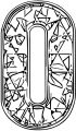 Blue Crystal Number Zero Coloring Page