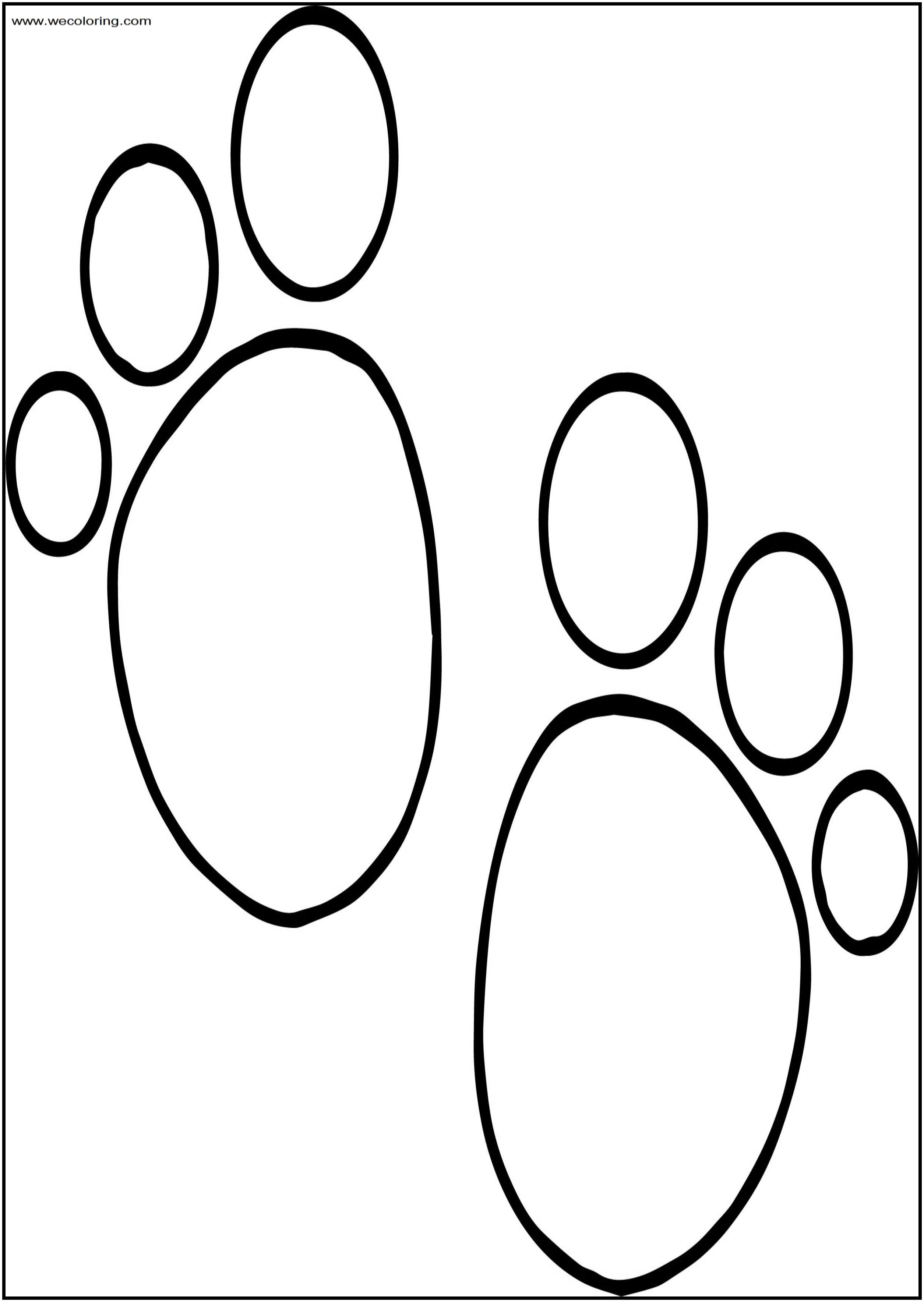 Blues Clues Foot Print Free A4 Printable Coloring Page