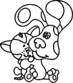 Blues Clues Hugging Cat Coloring Page