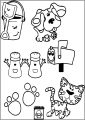 Blues Clues Periwinkle Free A4 Printable Coloring Pages