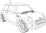 Bmw M5 Mini Car Coloring Page