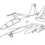 Boeing FA-18F Super Hornet Coloring Page