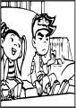Boring American Dragon Jake Long Free A4 Printable Coloring Page