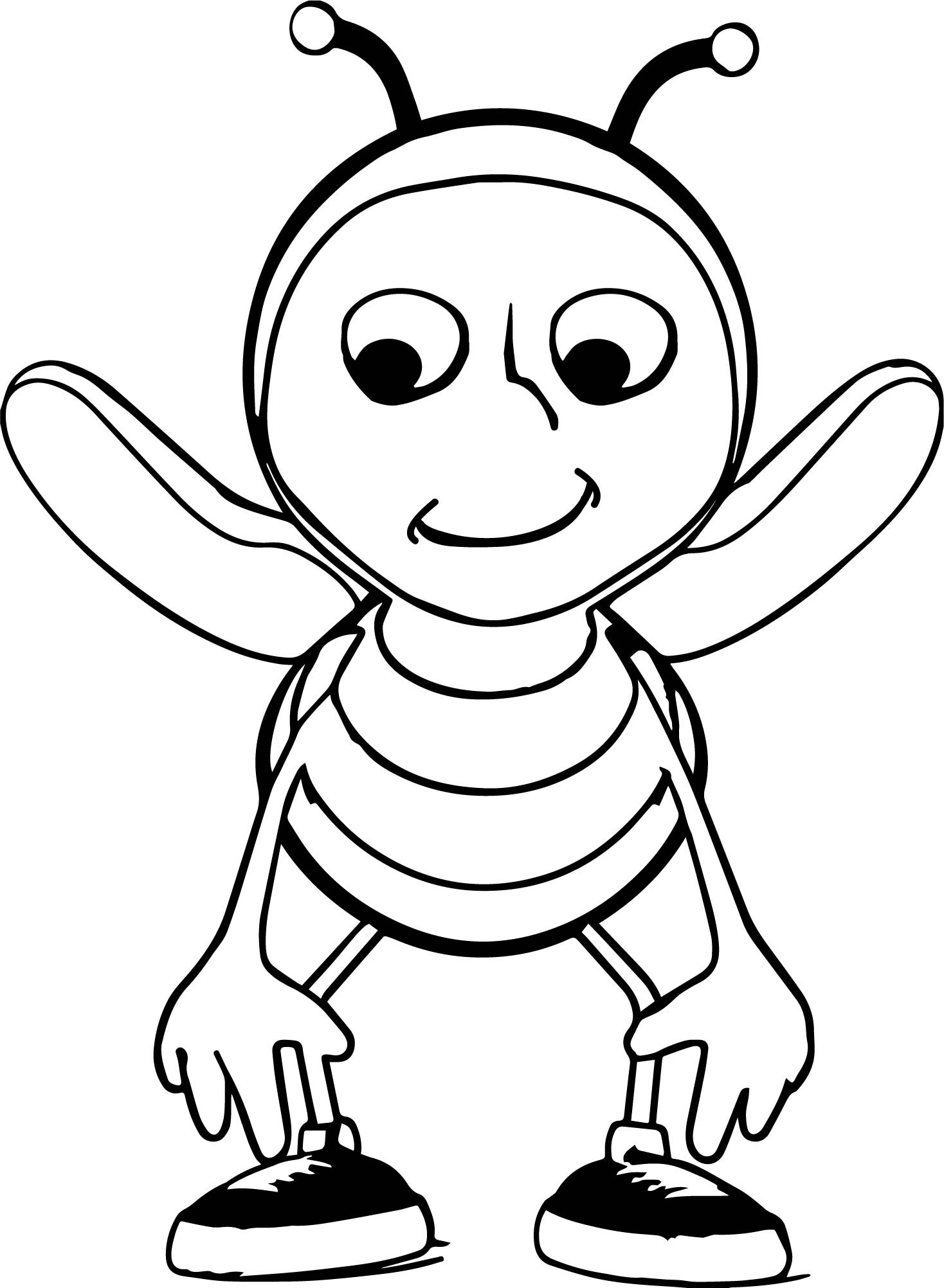 Bumble Bee Children Coloring Page   Kopya