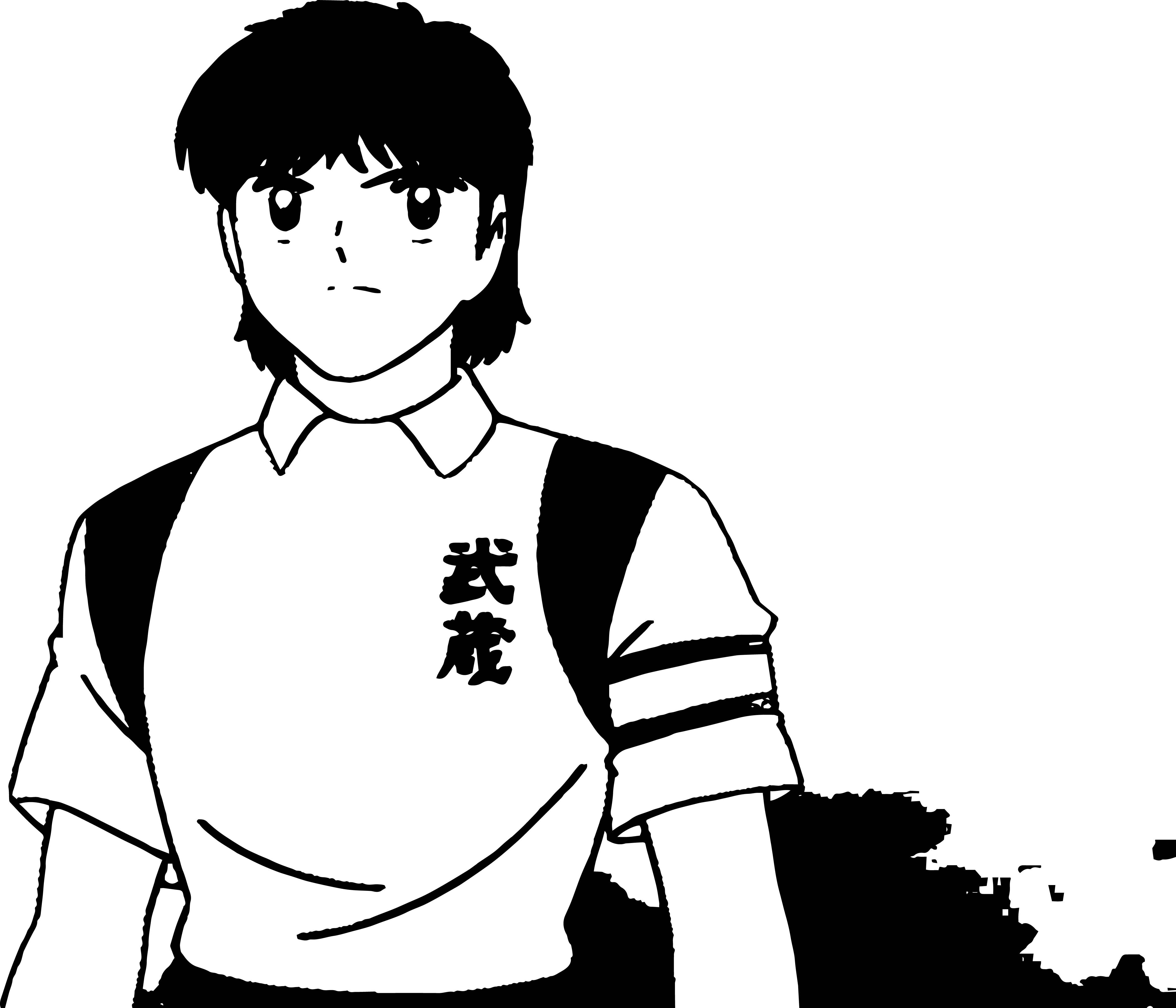 Captain Tsubasa Coloring Page 02