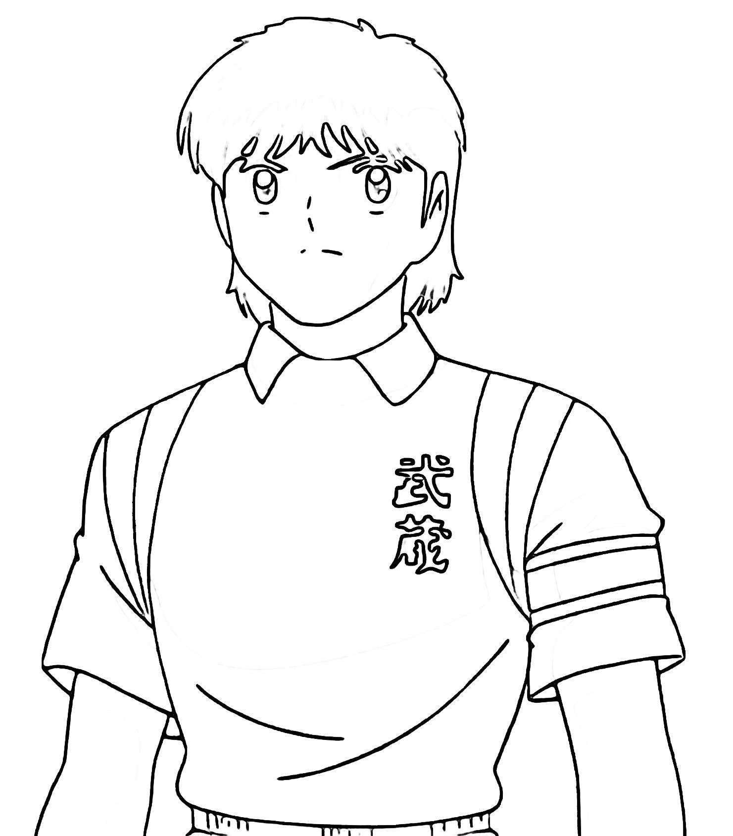 Captain Tsubasa Coloring Page 03