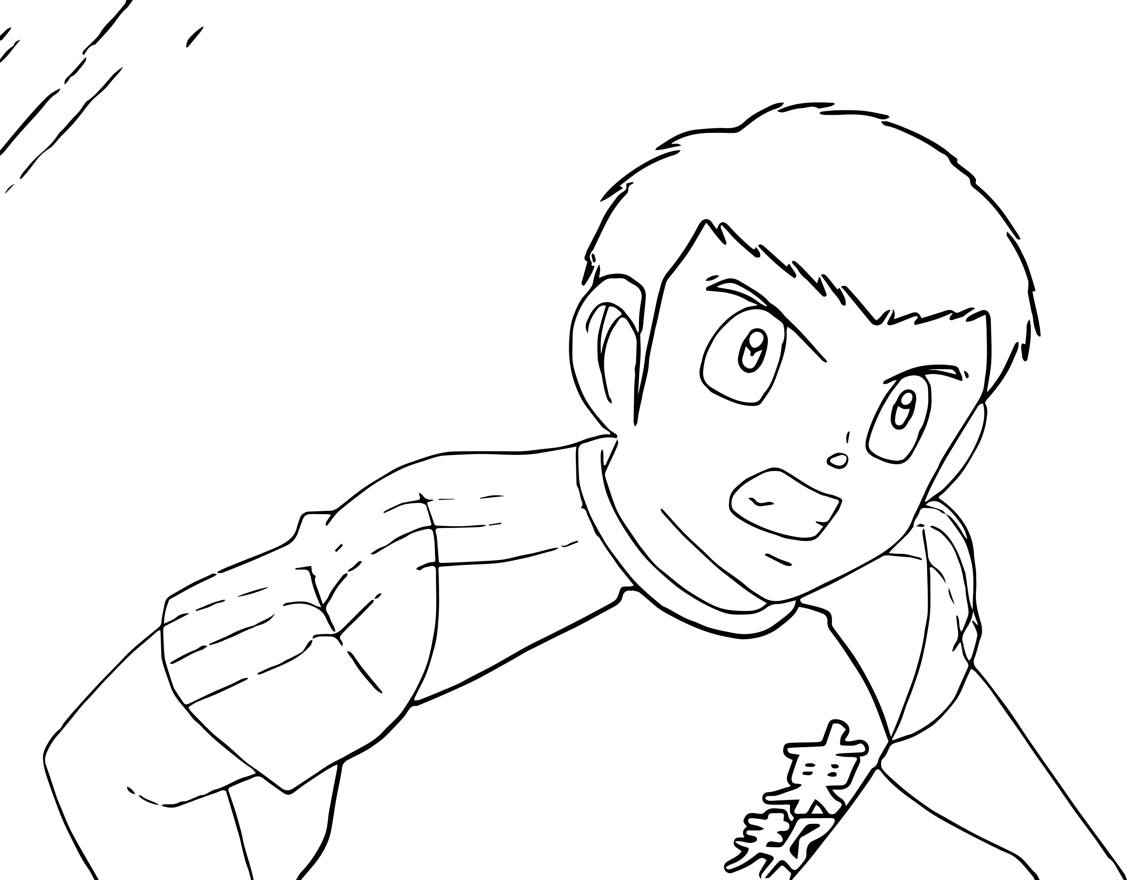 Captain Tsubasa Coloring Page 04