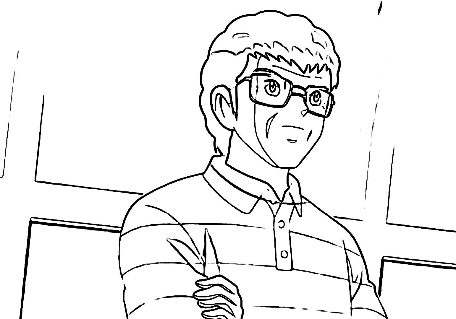 Captain Tsubasa Coloring Page 06