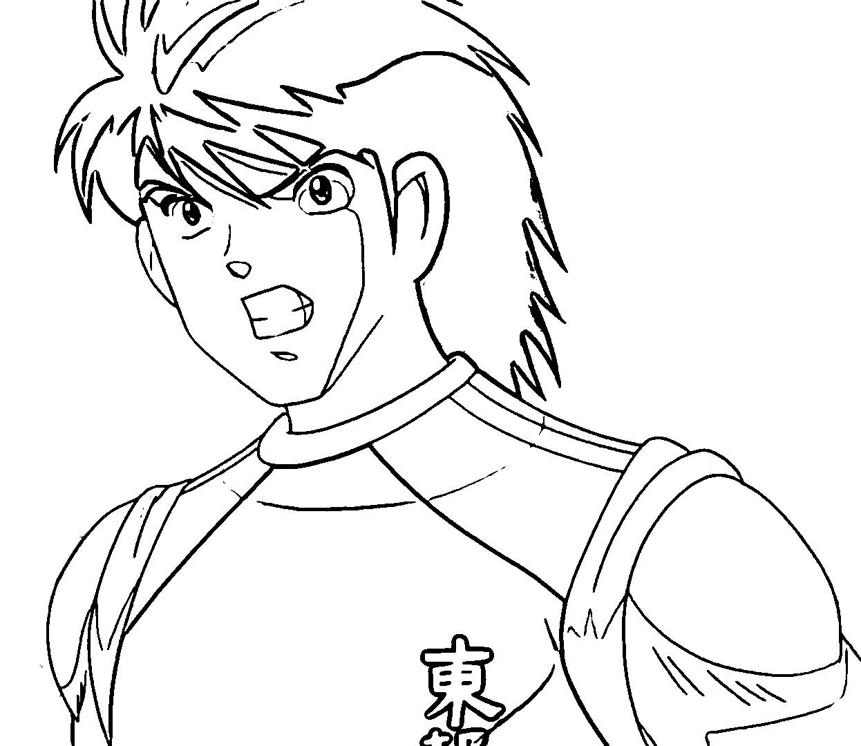 Captain Tsubasa Coloring Page 09