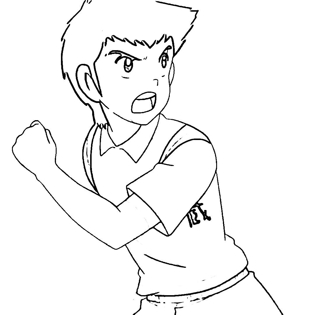 Captain Tsubasa Coloring Page 13