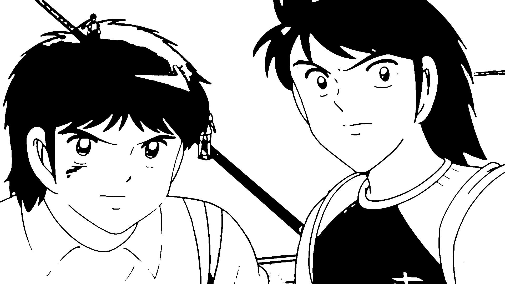 Captain Tsubasa Coloring Page 17