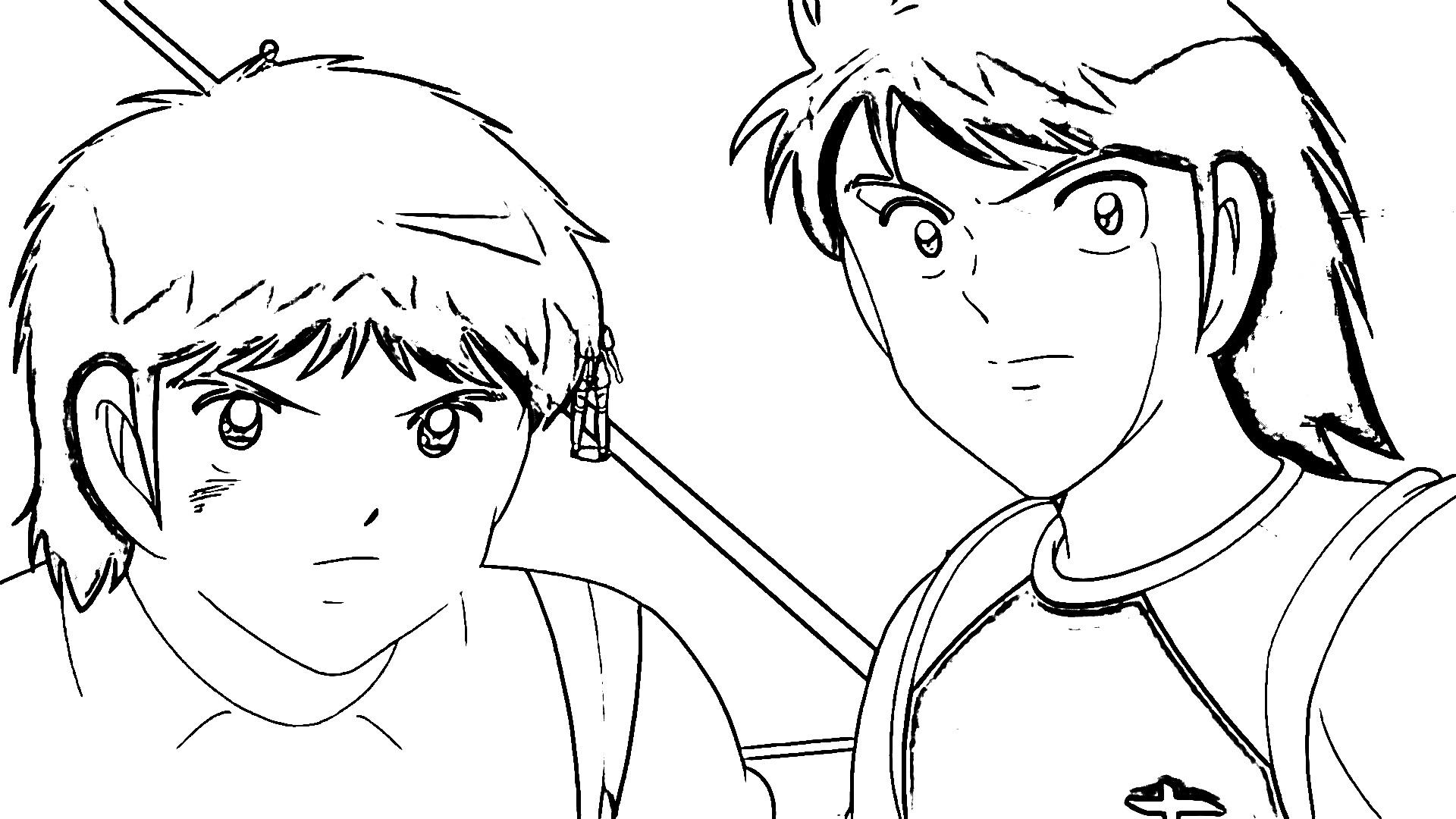 Captain Tsubasa Coloring Page 18