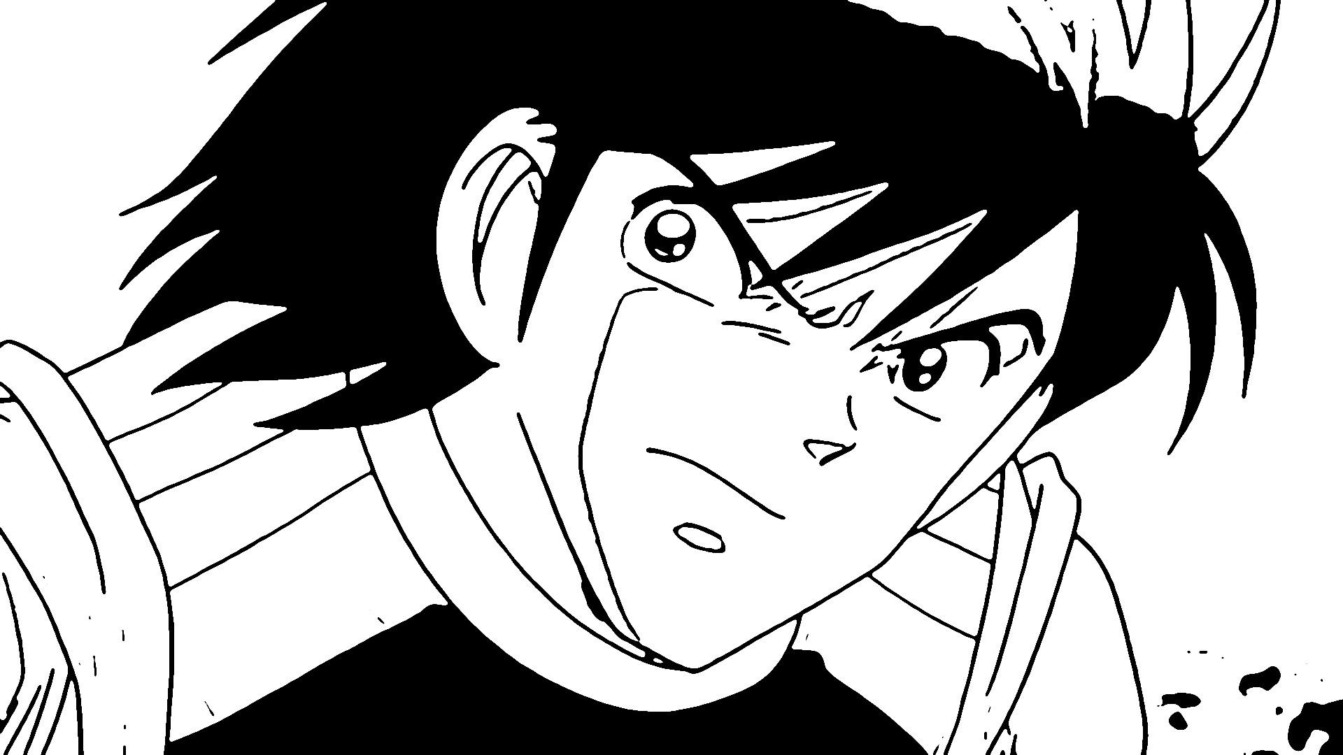 Captain Tsubasa Coloring Page 19