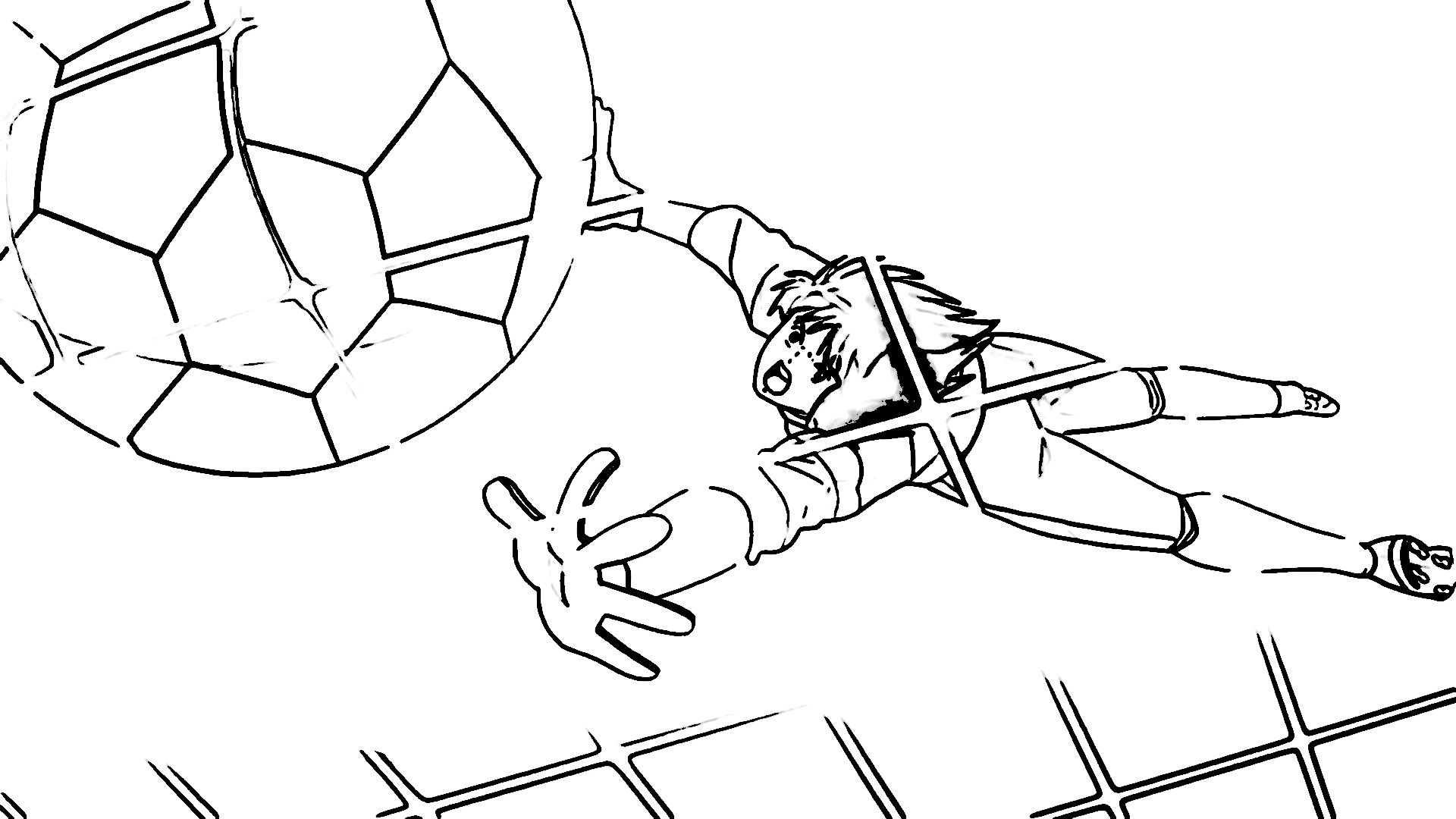Captain Tsubasa Coloring Page 32