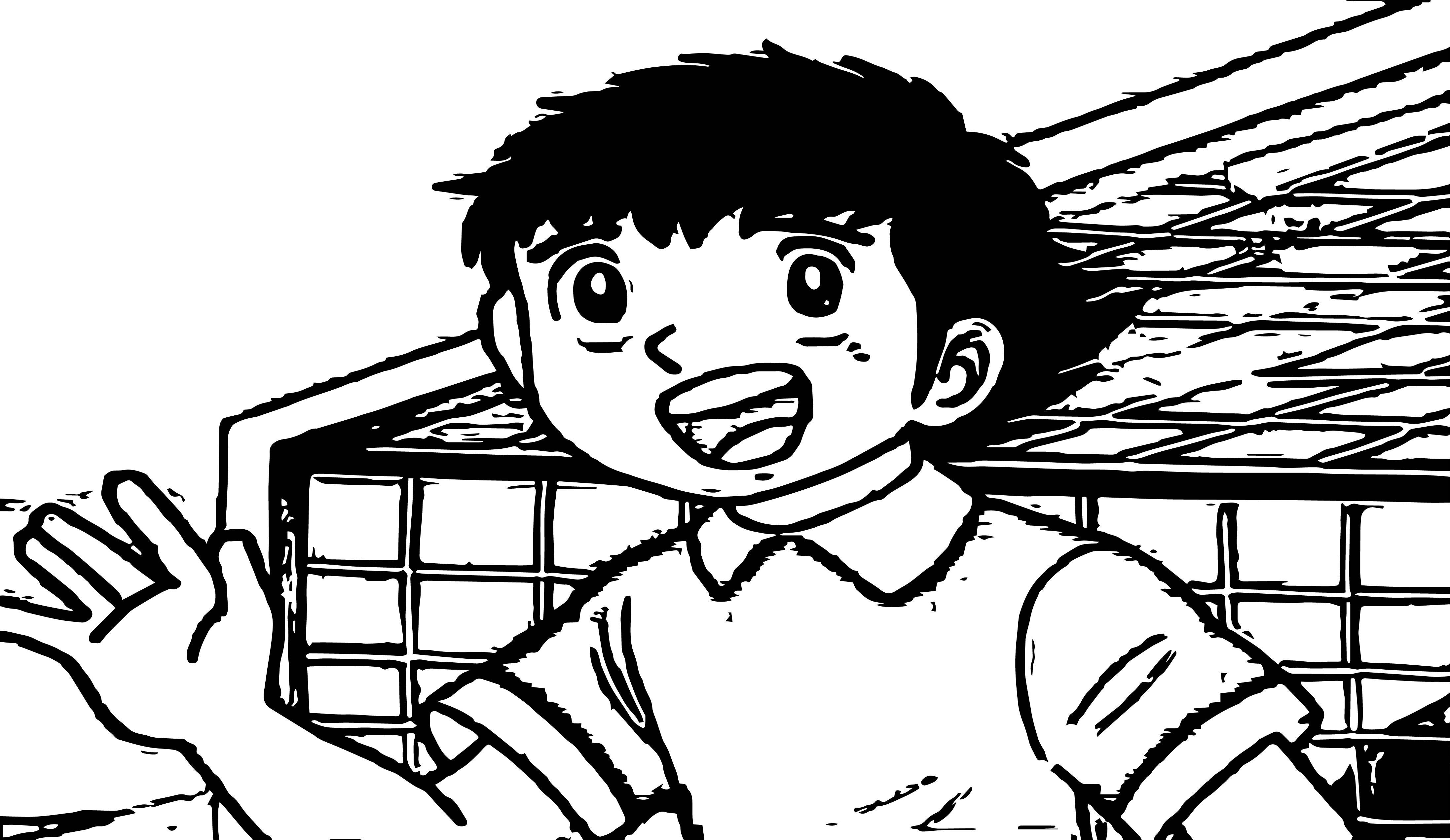 Captain Tsubasa Coloring Page 33