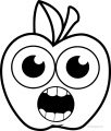 Cartoon Apple Coloring Pages 17