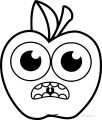 Cartoon Apple Coloring Pages 22