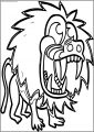 Cartoon Baboon Party Free Printable Coloring Page