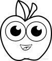 Cartoon Cartoon Apple Coloring Pages 01