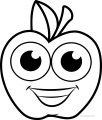 Cartoon Cartoon Apple Coloring Pages 02