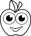 Cartoon Cartoon Apple Coloring Pages 03
