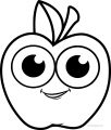 Cartoon Cartoon Apple Coloring Pages 11