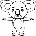 Cartoon Cute Koala Coloring Page