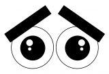Cartoon Eye Sad Coloring Page