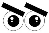Cartoon Eye What Coloring Page