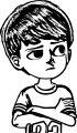 Cartoon Factory Boy Coloring Page