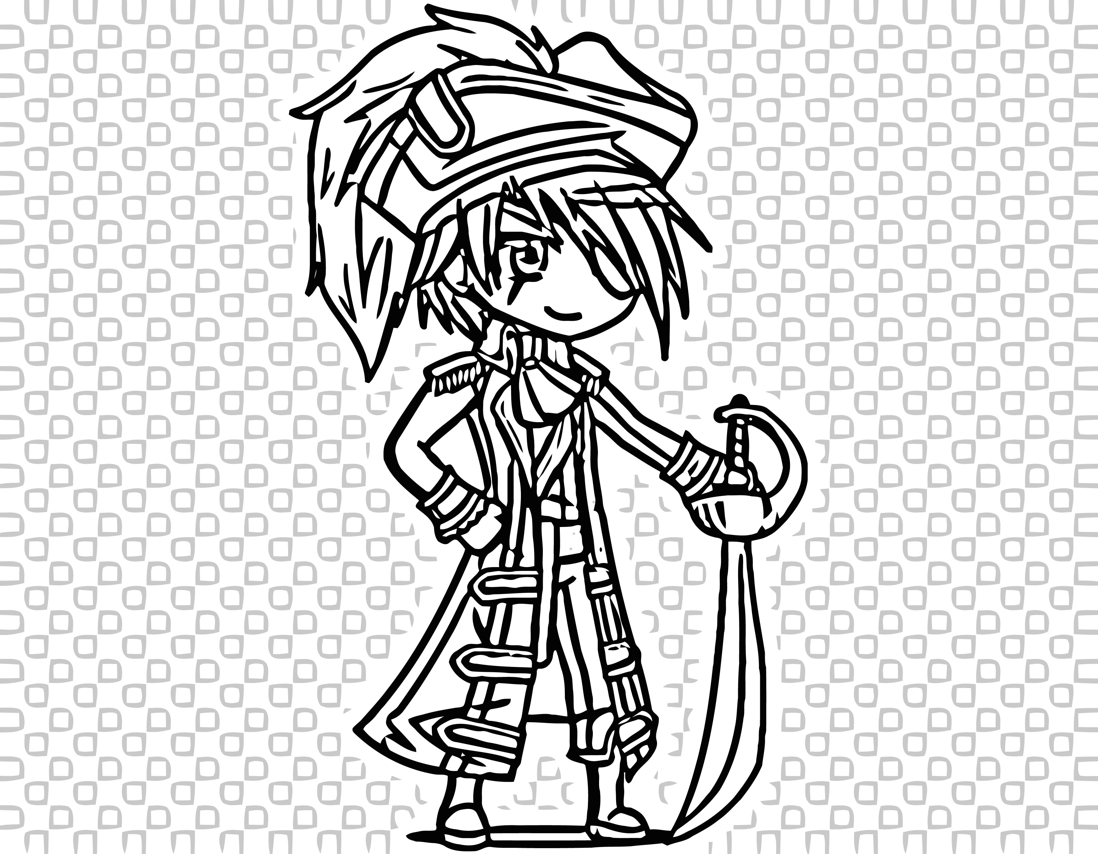 Cartoon Gacha Studio Anime Dress Up Gacha Life Coloring Page