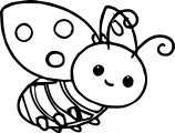 Cartoon ladybug coloring page 04