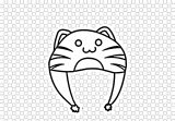Cat Hat Black White Gacha Life Clipart Coloring Page