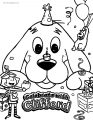 Celebrate with clifford coloring page