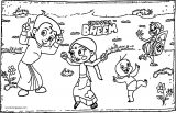 Chhota Bheem And Friends Play Coloring Page36