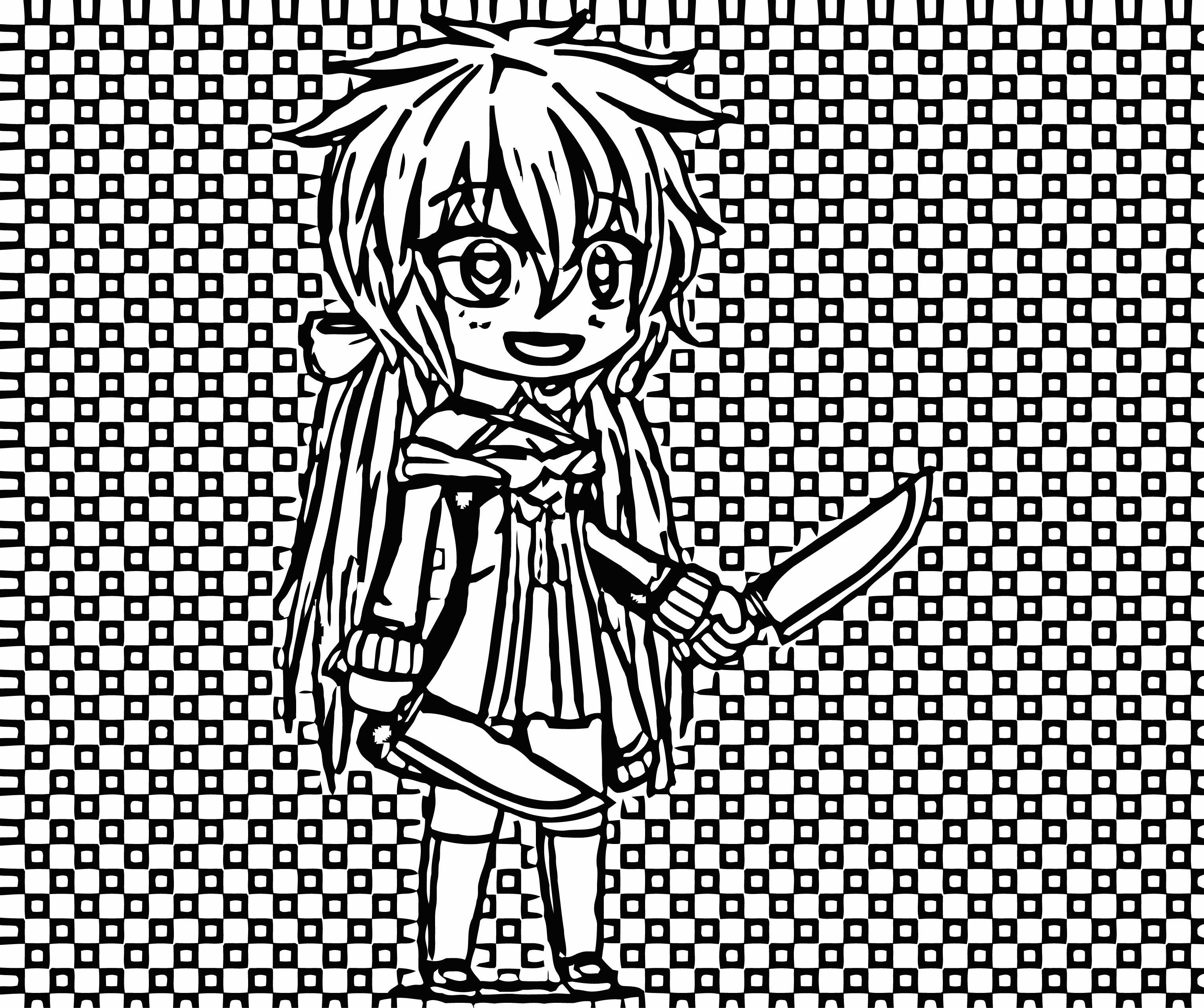 Chibi Gacha Studio Anime Dress Up Image Drawing Chibi Coloring Page