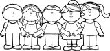 Children Happy Kids We Coloring Page