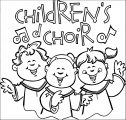 Children Singing In Church Clipart Eifvlsaa Kids We Coloring Page