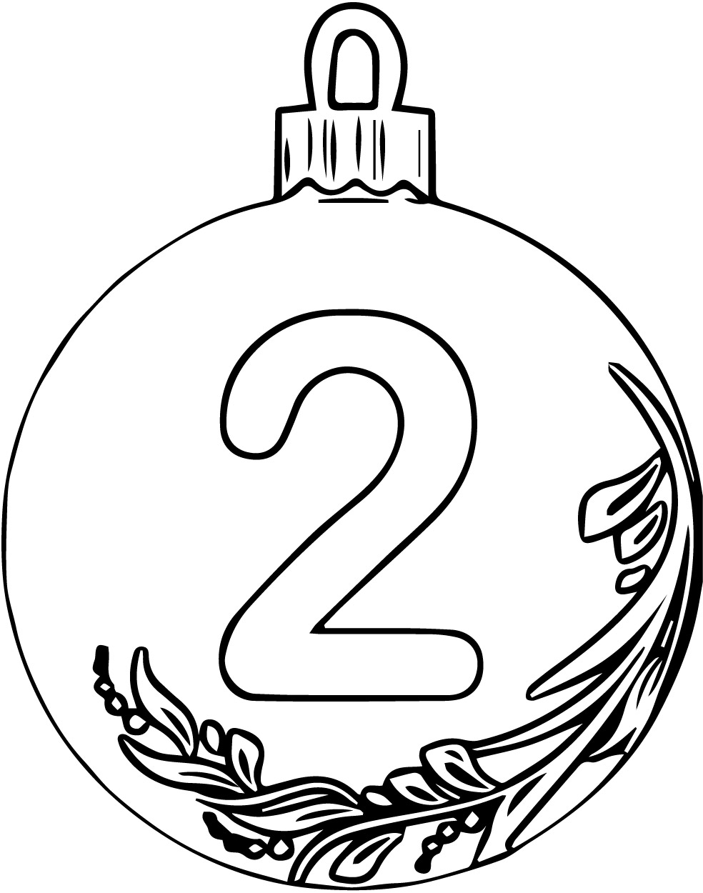 Christmas Ball Number Two Coloring Page