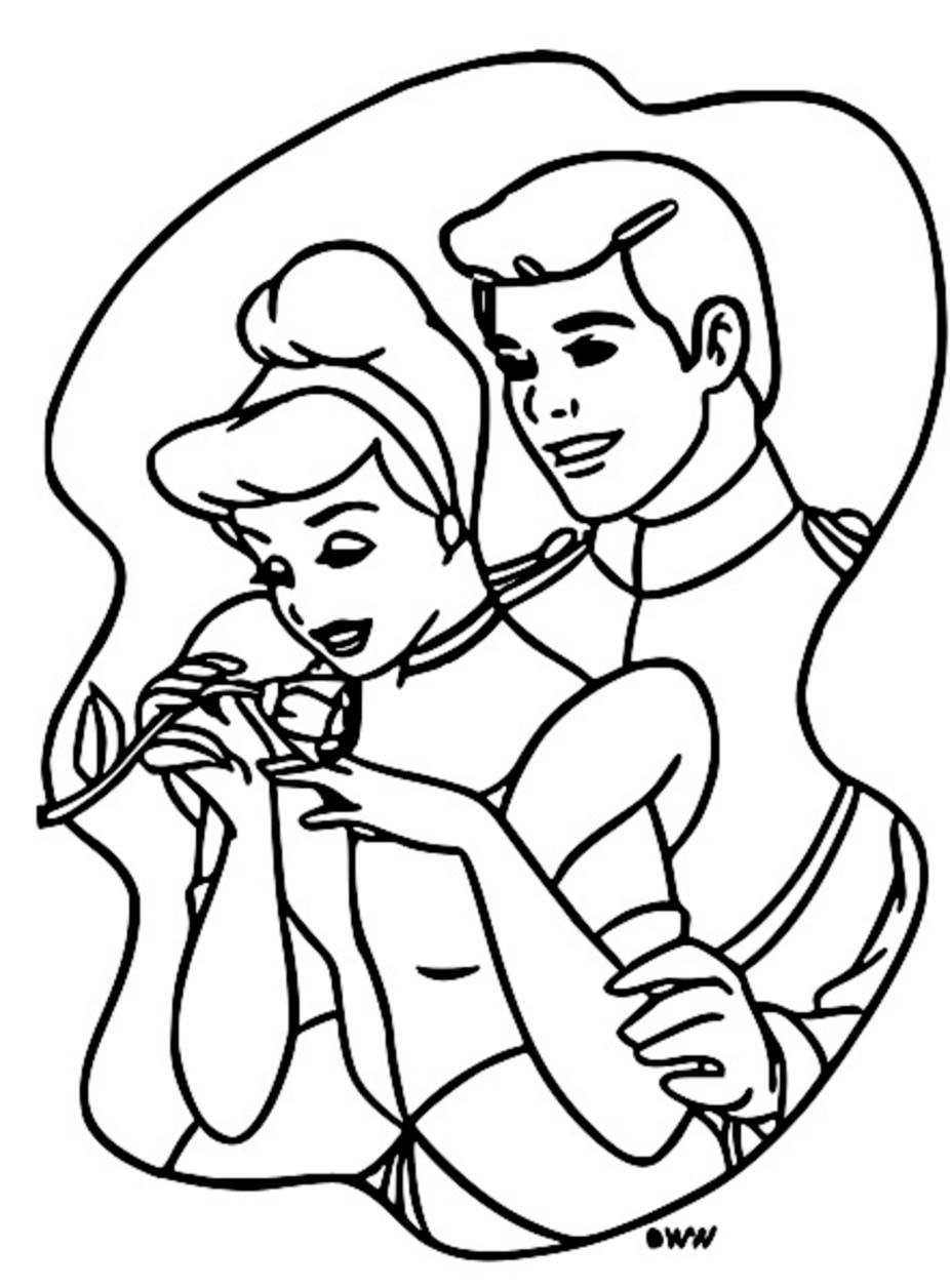 Cinderella And Prince Charming Coloring Pages 18
