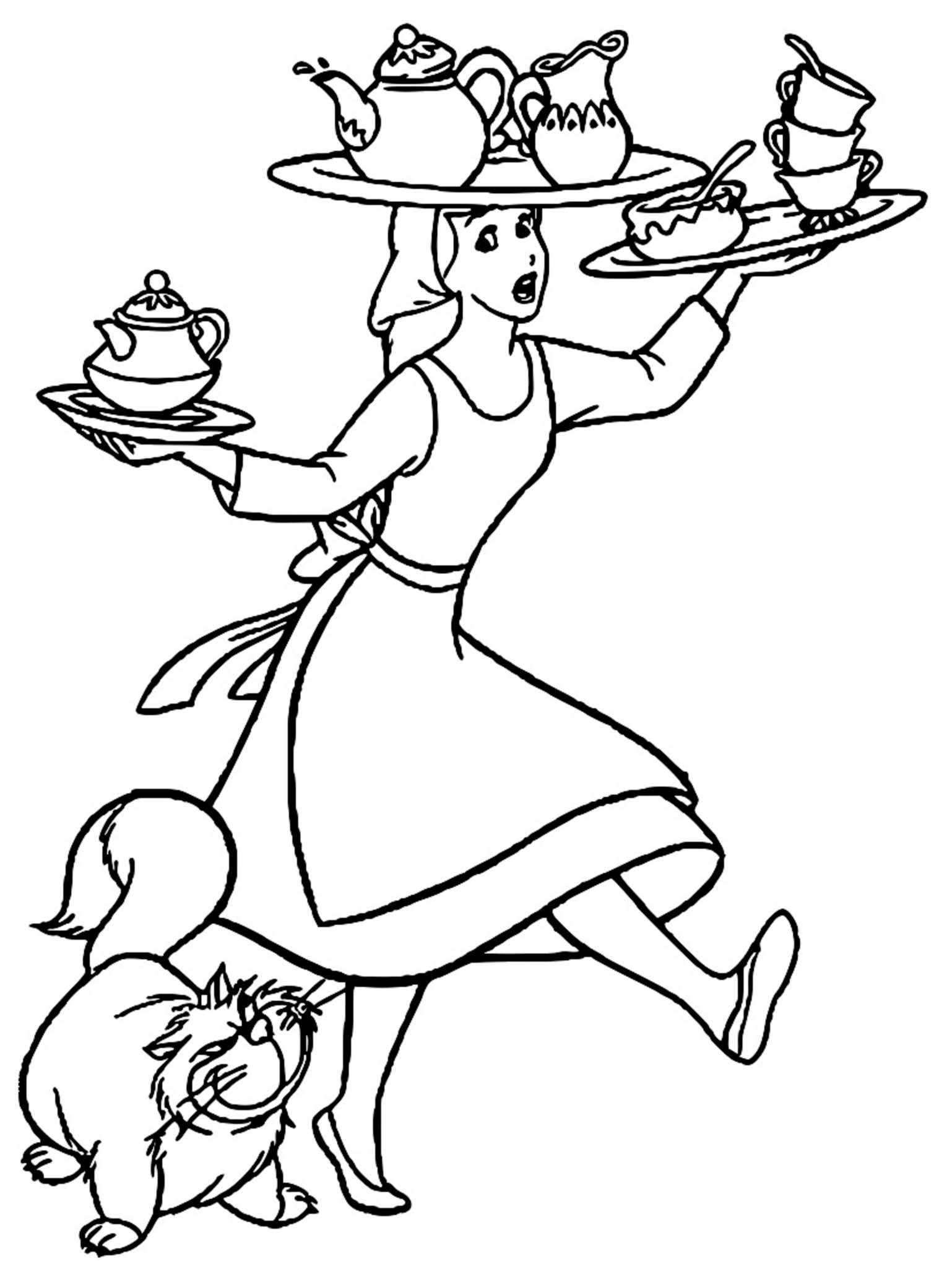 Cinderella Coloring Pages 07