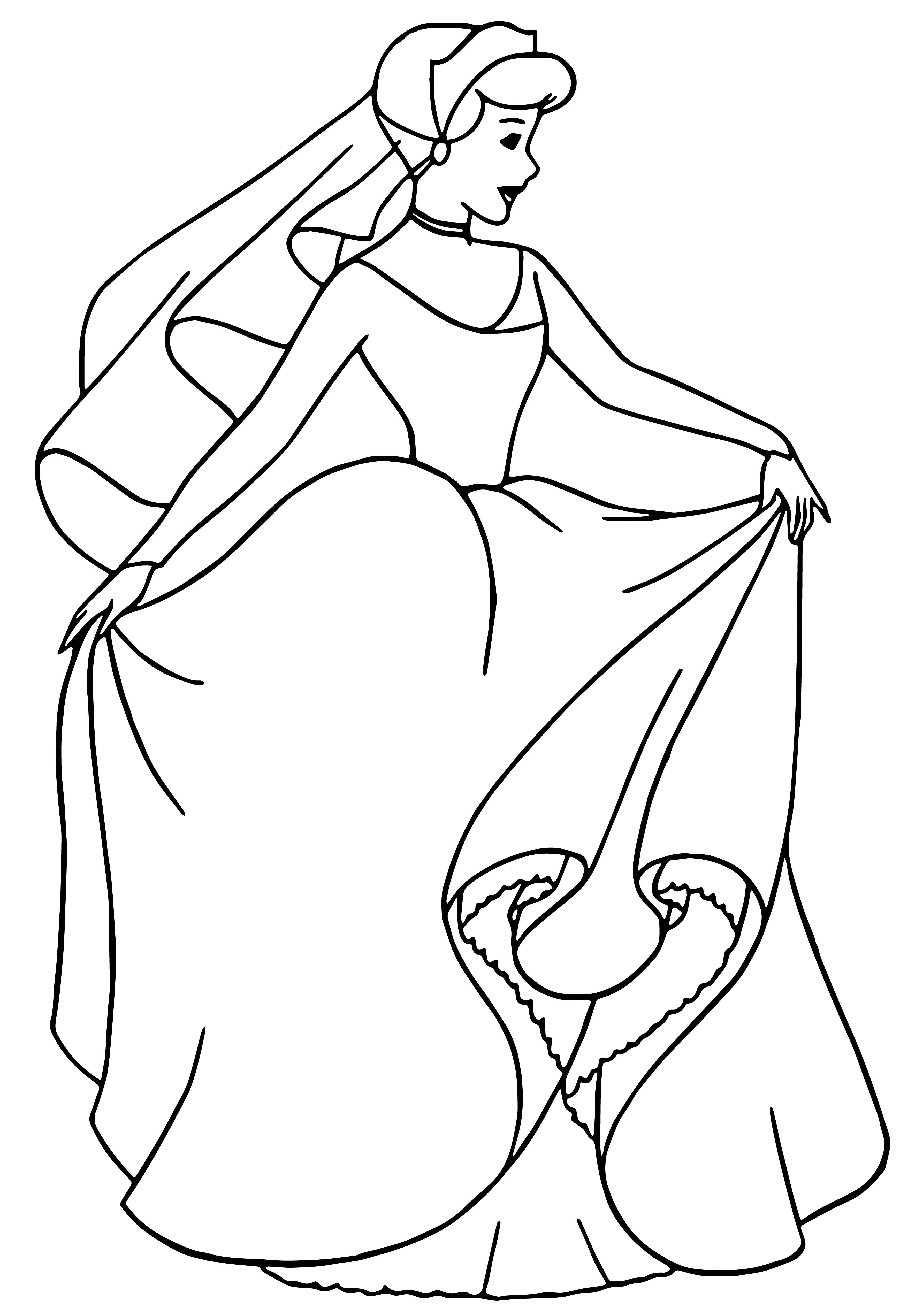 Cinderella Coloring Pages 117