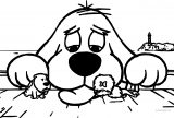 Clifford The Big Red Dog Coloring Page 01