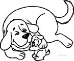 Clifford The Big Red Dog Coloring Page 08