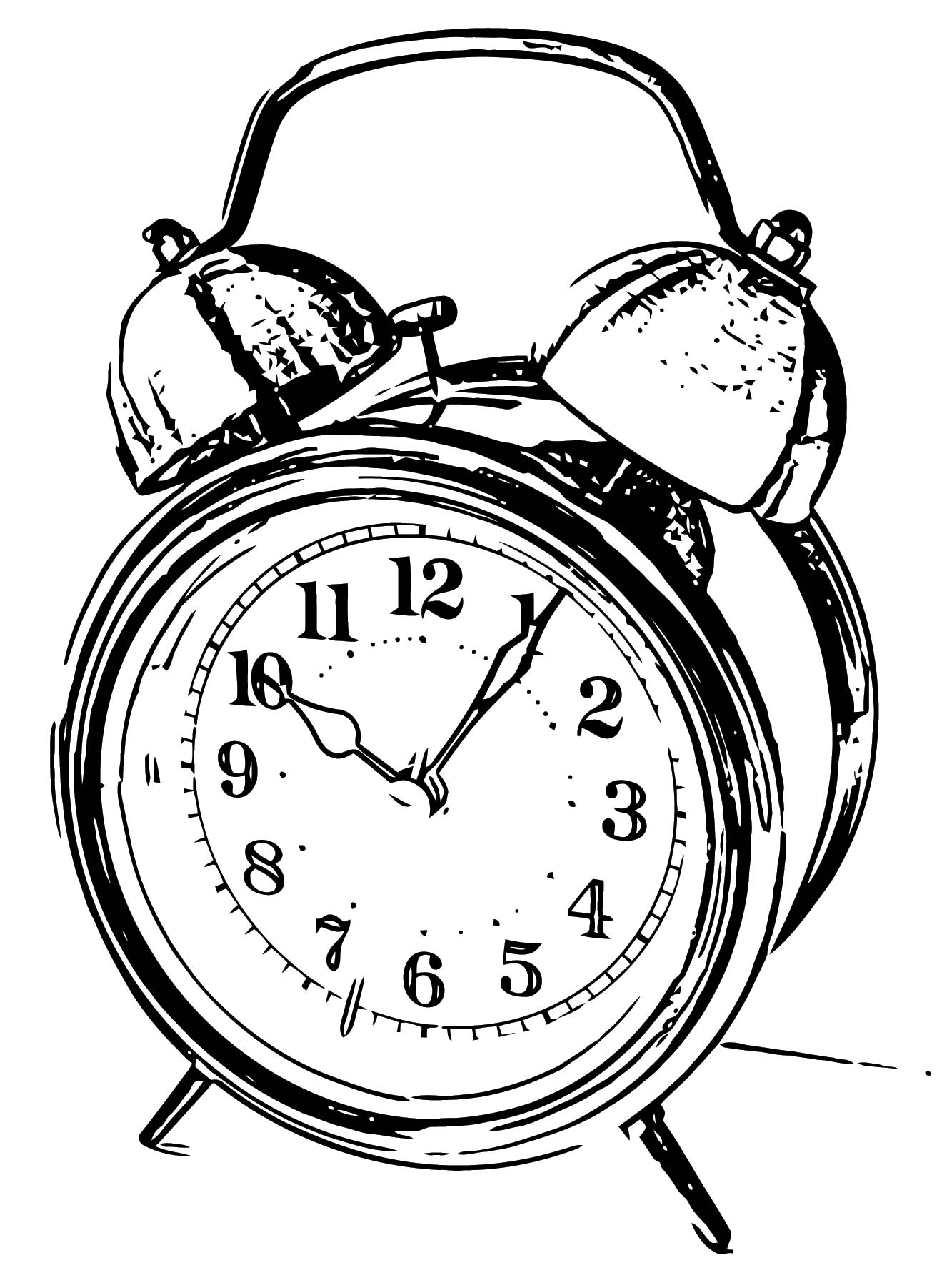Clock Coloring Page WeColoringPage 028