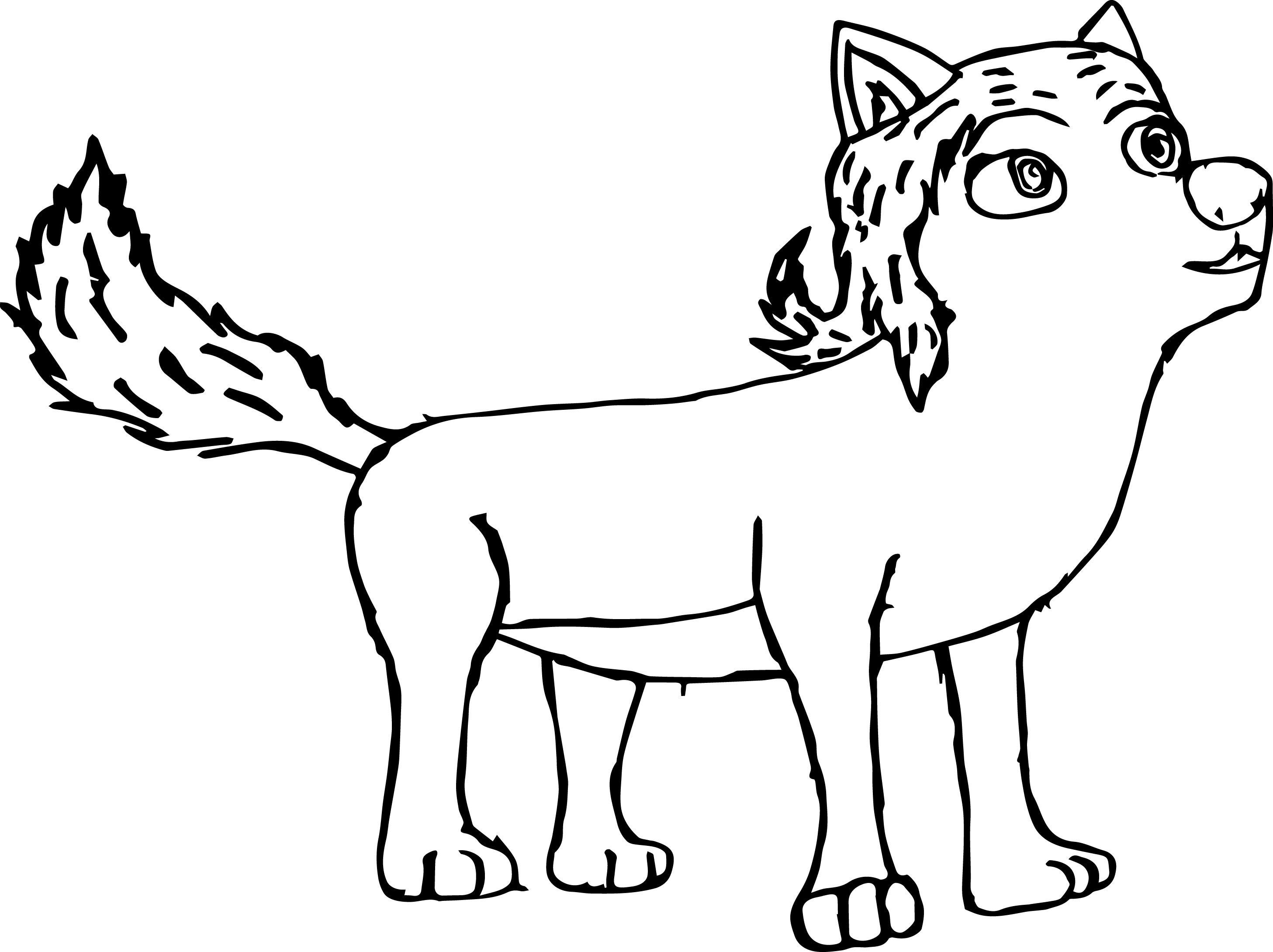 Cloudette Wolf Raider Coloring Page