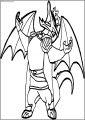 Clown American Dragon Jake Long Free A4 Printable Coloring Page